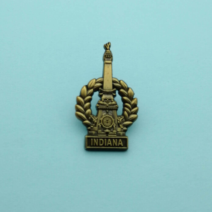 antique brass pin